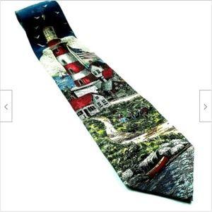 Lighthouse Americana Series American Flag Tie